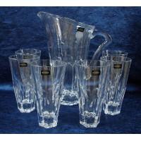 Комплект кана + 6 чаши за вода серия Купър Bohemia Crystalite № 12721