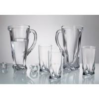 Комплект кана + 6 чаши за вода серия Куадро Bohemia Crystalite № 6666