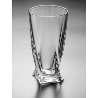 Усукана чаша за газирани напитки серия Куадро Bohemia Crystalite № 71344