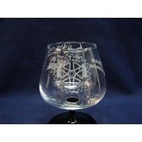 Чаша за коняк с гравирано лого № 43210