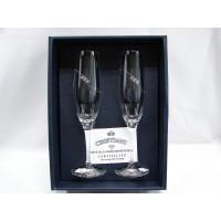 Комплект чаши за шампанско със Сваровски елементи № 130302