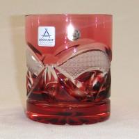 Червена кристална чаша за уиски № 11936 Чашата не се продава на брой!