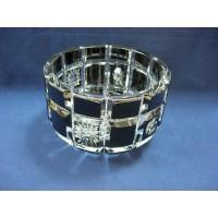 Кристална фруктиера от черен двупластов кристал № 47084