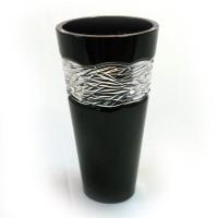 Кристална ваза от черен кристал № 47067