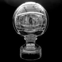 Кристална волейболна топка на стойка с прозорец за надпис № 47088