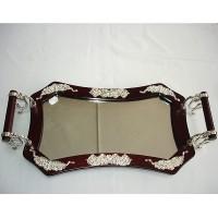 Посребрен огледален поднос № 37192