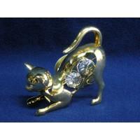 Позлатена фигура котка № 20330