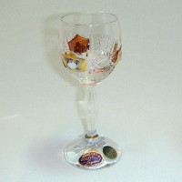 Позлатена кристална чаша за ракия № 57112055