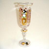Позлатена кристална чаша за шампанско № 57112150