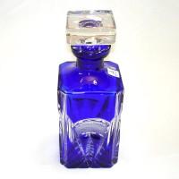 Синьо кристално шише за уиски № 11972