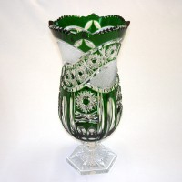 Зелена кристална ваза № 27583
