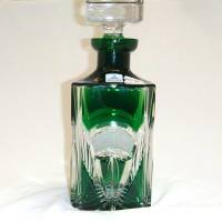 Зелено кристално шише за уиски № 11973